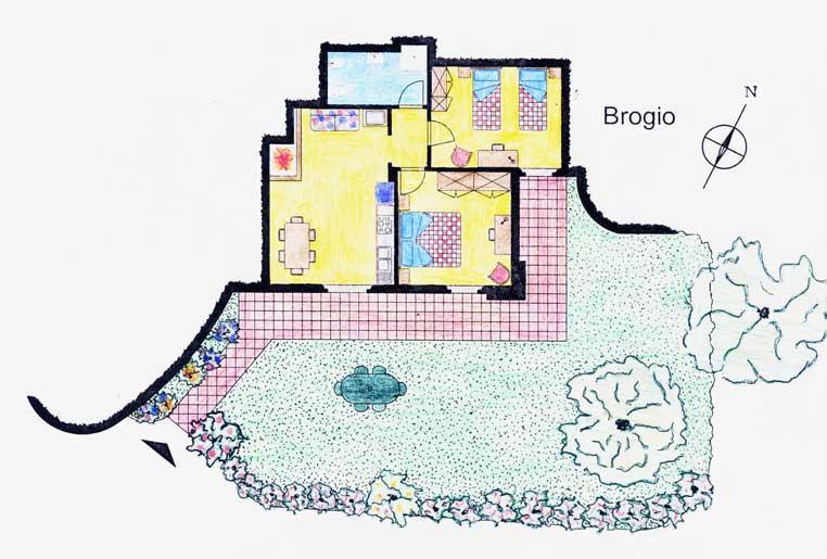 Casa Vacanze La Baghera - La Baghera Alta - Appartamento Brogio - Piantina