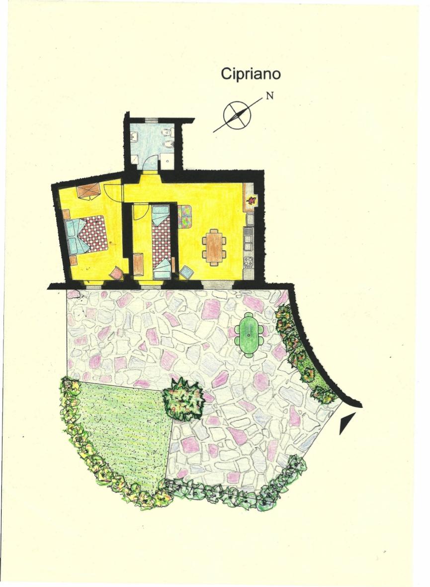 Casa Vacanze La Baghera - La Baghera Alta - Appartamento Cipriano - Piantina