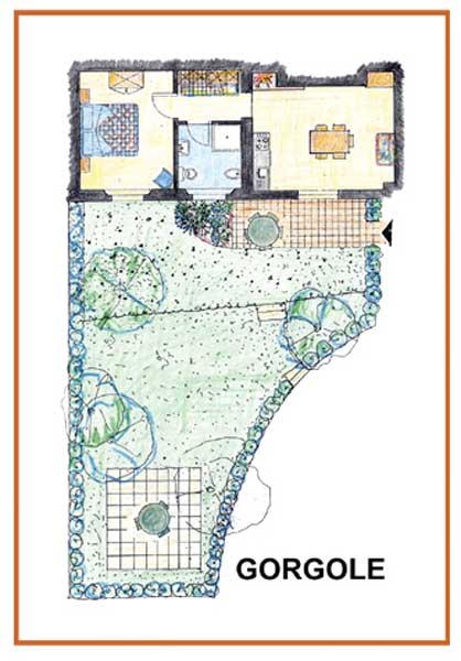 Casa Vacanze La Baghera - La Baghera - Appartamento Gorgole - Piantina